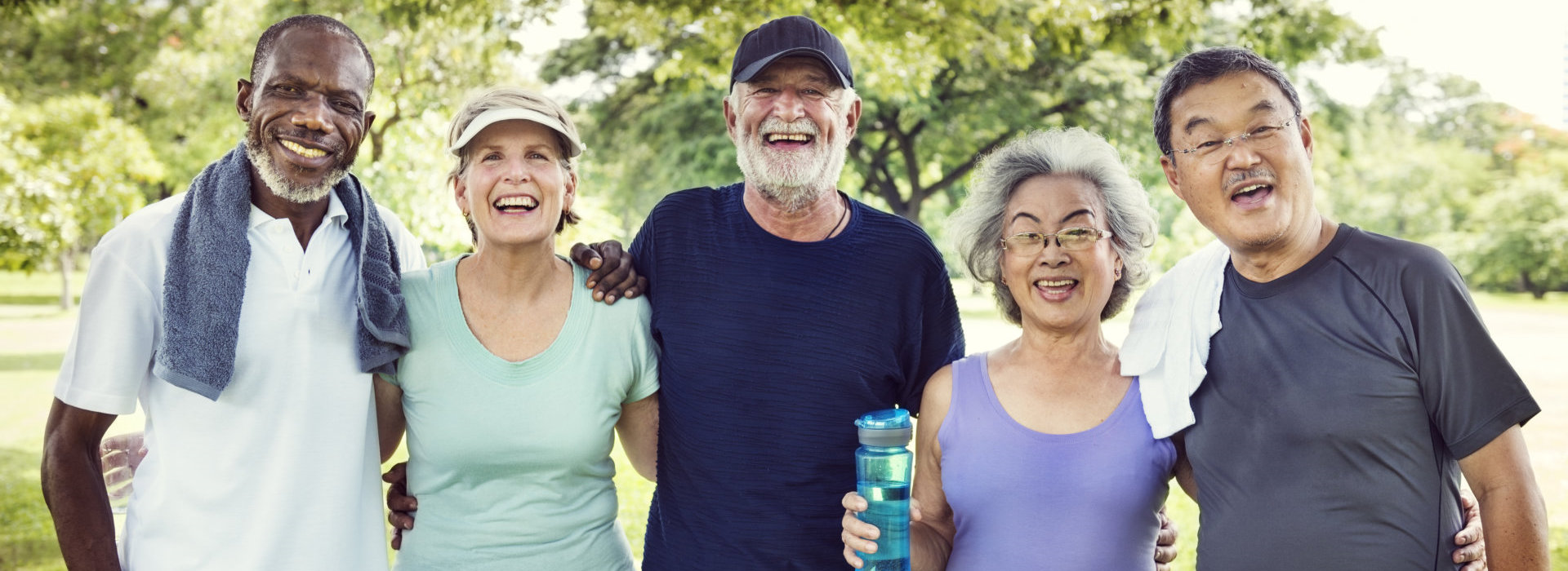 happy seniors after their exercise
